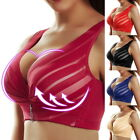 Plus Size Women Full Coverage Wire  Lace Push Up Bra Adjustable Breathable