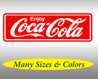 Coca Cola Decal Sticker Wall Window Vintage Decor Men Cave Vinyl Enjoy £16.78  on eBay