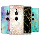 HEAD CASE DESIGNS GLITTERY MARBLE PRINTS HARD BACK CASE FOR SONY PHONES 1