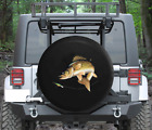 Spare Tire Cover Walleye Chasing Fishing Lure Catch Wrangler RV