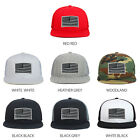 Youth Kid's Grey American Flag Patch Flat Bill Snapback Trucker Cap - FREESHIP