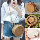Us Summer Bags Women Rattan Straw Bag Woven Round Handbag Crossbody Beach Bags