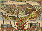 1572 Map of Toledo Spain Braun Hogenberg Wall Art Poster Home Office Decor Print