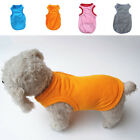 Pet Dog Puppy Poodle Summer Solid Color Vest Shirts Clothes Outfits Supplies Sa