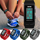 SKMEI Men Women Sport Bracelet LED Waterproof Fitness Pedometer Digital Watch US image