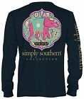 Simply Southern Long Sleeve Preppy Let God - YOUTH (Small)