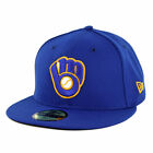 New Era 5950 Milwaukee Brewers ALT Fitted Hat (Royal Blue) MLB Cap