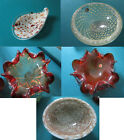 MURANO GLASS ITALY FREE FORM AND ROUND BOWL ASHTRAY CANDY DISH -PICK ONE