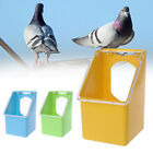 JAP Pet Pigeons Water Food Feeder Bird Cage Hang Feeding Box Transparency Cover