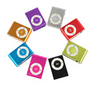 Mini MP3 Player Clip Audio Music SD Card Schwarz Blau Rot Lila Pink Silber Gold