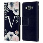 NATURE MAGICK WATERCOLOUR FLOWER MONOGRAM 2 LEATHER BOOK CASE FOR SAMSUNG 2