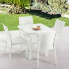 5-piece Outdoor Dining Set 1 Table & Dining 4 Chairs  Patio Furniture Garden