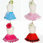 TUTU SKIRT with Polka Dot Edges Toddler Girls Pageant Birthday Party Costume