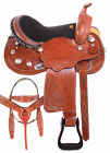 Beautiful Cowgirl Trail Barrel Racing Western Horse Saddle Tack Set 15 16 17 18