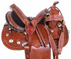 Amazing Barrel Trail Leather Silver Western Horse Saddles Tack Set 15 16 17 18