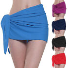 Summer Beach Solid Color Knotted Bodycon Wrap Skirt Women Bikini Cover Up Sanwoo