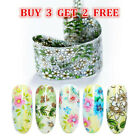 Nail Foils Mixed Flower Patterns Transfer Sticker Decal Nail Tips Decoration
