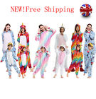 Adult/Kids Unicorn Unisex Women Kigurumi Animal Cosplay Costume Onesie19 Pajamas