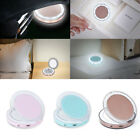 Portable Folding Pocket Cosmetic Mirror  Compact with LED Lights Lamps Make up