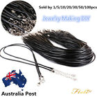 Many Pcs Black Suede Leather String Necklace Cord Chain Jewelry Making Diy Hs