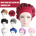 Womens Ladies  Satin Bonnet Cap  Hat Silk Head Wrap Adjust