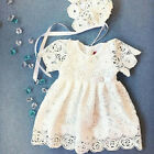 US Cute Newborn Baby Girls Princess Dress Lace Floral Sunsuit Summer Outfits