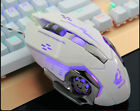 Wired LED Lamp 4000DPI Optical Usb Ergonomic Pro Gamer Gaming Mouse Metal Plate
