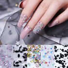 Nail Art Rhinestones Black Flat Back Nail Rivet Studs 3D Nail Art Decorations