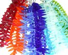 """PICK COLOR 7"""" freeform dagger spike sea beach glass beads frosted recycled"""