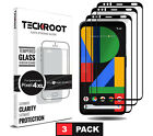Google Pixel 4, 4 XL, 3a, 3a XL [3 PAC]TeckRoot Screen Protector Tempered Glass
