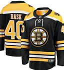 Tuukka Rask 40 Boston Bruins Black  Yellow Adult Ice Hockey Jersey