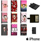 BETTY BOOP RED CIRCLE KISS CARTOON FLIP WALLET PHONE CASE COVER APPLE iPhone $10.62 USD on eBay