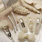 Women Girl Pearl Hair Clip Hairpin Comb Bobby Pin Barrette Headdress Accessories image