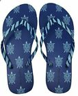 NWT Vera Bradley FLIP FLOPS Sandals MARINE TURTLES Travel Beach Pool Play WOMENS