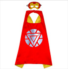 New Childrens Superhero Cape Mask Costume High Quality Kids Halloween Party