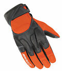 Joe Rocket Orange/Black Atomic X2 Hybrid Leather/Textile Mesh Motorcycle Gloves