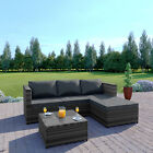 Rattan Garden Corner Sofa And Table Patio Furniture Chair Set Black Grey Brown