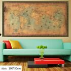 World Map Nautical Ocean Sea Retro Art Paper Painting Home Office Decor Poster