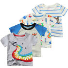 Kid Baby Boy Girl Dinosaur Short Sleeve Casual T-shirt Blouse Child Toddler Tops
