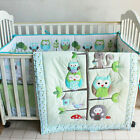 7PCS Baby Bedding Set Nursery Quilt Bumper Infant Crib Skirt Fitted Cover