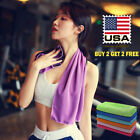 Buy 2 Get 2 Free Ice Cooling Towel for Sports  Fitness Workout Gym Yoga Pilates image