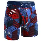 "2UNDR Men's Swing Shift 6"" Comfort Boxer Brief Underwear Limited Edition Colors"