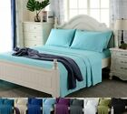 Deep Pocket 4 Piece Bed Sheet Set 1800 Count Egyptian Comfort Sheets All Sizes image