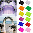Organza Crystal Sheers Tulle Fabric Chair Arch Wedding Party Decorations 5M