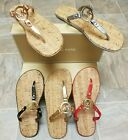MICHAEL KORS Cork Sandals MK Logo charm Jelly PVC New in the box - great GIFT