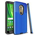 For Motorola Moto G6 E5 Play Plus Forge Hybrid Case Cover+Glass Screen Protector
