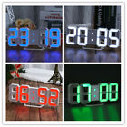 Modern LED Digital Numbers Wall Clock Timer Dimmer Alarm Snooze Clock Table Bed