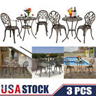 Us 3pcs Table And Chair Set Tulip Garden And Patio Home Outdoor Bistro Aluminum