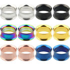 2Pcs Stainless Steel Tunnel Expander Stretcher Ear Plug Piercing Jewelry Code