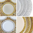 "Plastic 9"" ROUND PLATES with Lacy Trim Party Wedding Disposable TABLEWARE SALE"